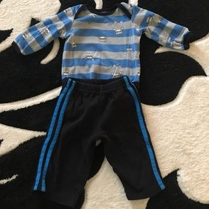 Other - Fox striped two piece outfit size 6 month